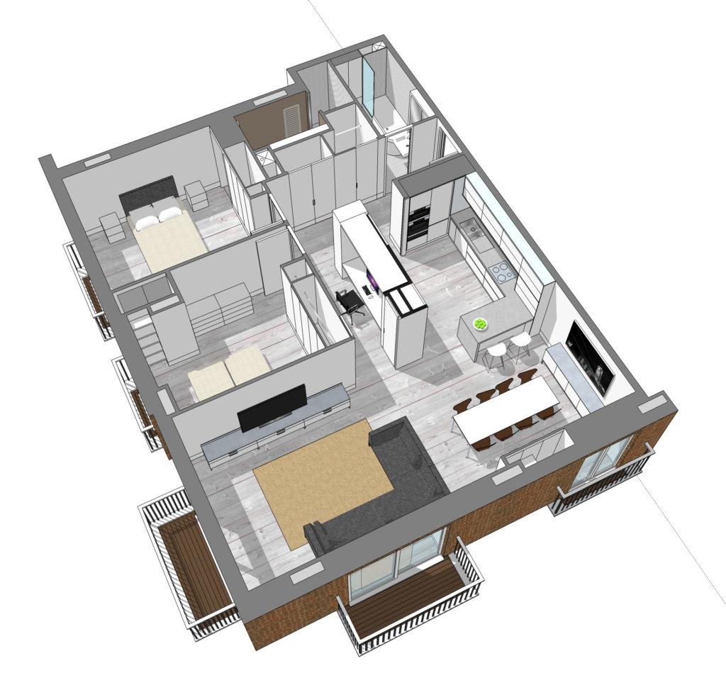 Artillery Mansions apartment transformed