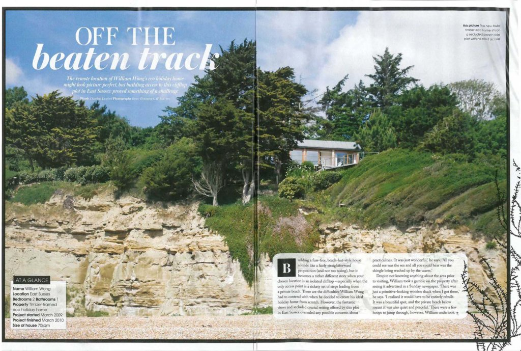 FORMstudio's low carbon coastal house project featured in Grand Designs Magazine