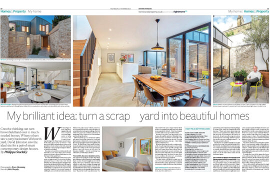 FORMstudio's Benbow Yard project in the Evening Standard Homes & Property
