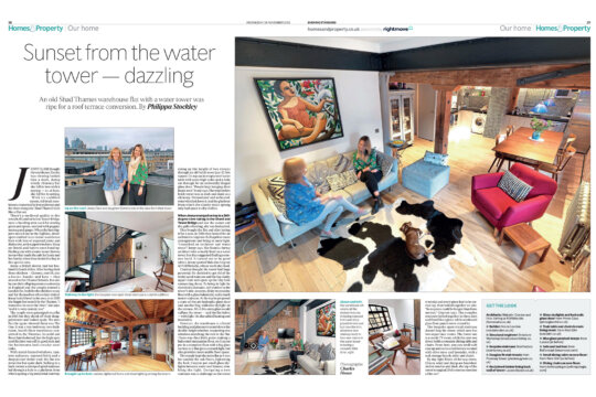 Shad Thames Water Tower project featured in Evening Standard Homes & Property